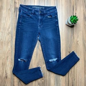 American Eagle Jegging Distressed High Rise Jeans